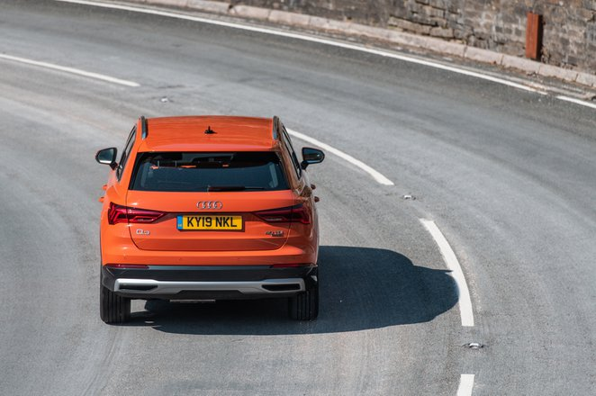 Audi Q3 2021 rear cornering