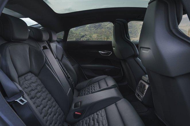 Audi e-tron GT 2021 interior rear seats