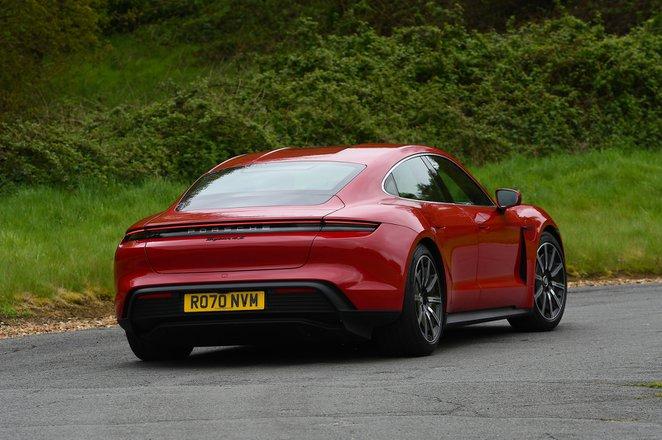 Porsche Taycan 2021 rear cornering