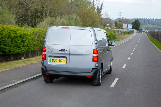 Toyota Proace Electric 2021 rear tracking