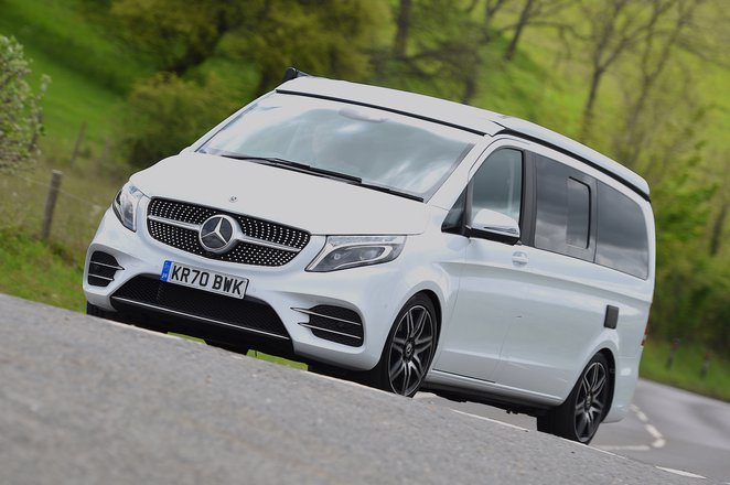 Mercedes V-Class Marco Polo 2021 front cornering