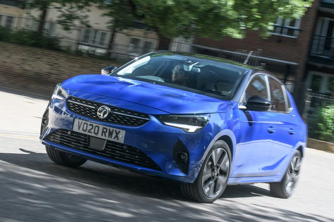 2021 Vauxhall Corsa front left tracking