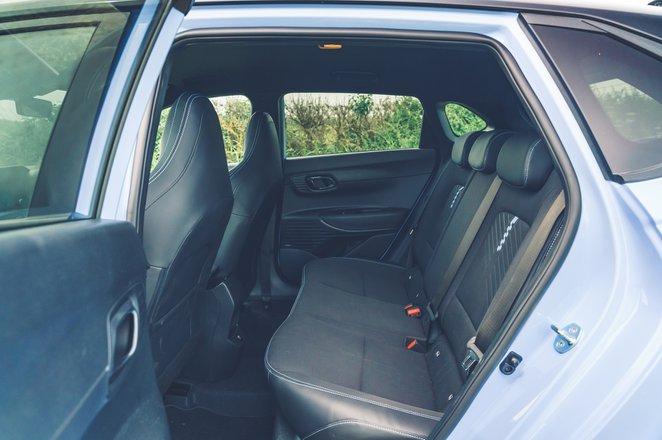 Hyundai i20 N 2021 interior rear seats