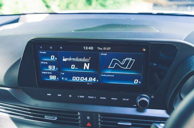 Hyundai i20 N 2021 interior infotainment