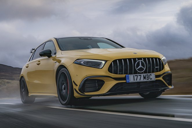 Mercedes-AMG A45 S 2021 front right tracking
