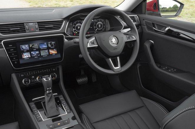 Skoda Superb iV Estate 2021 interior dashboard