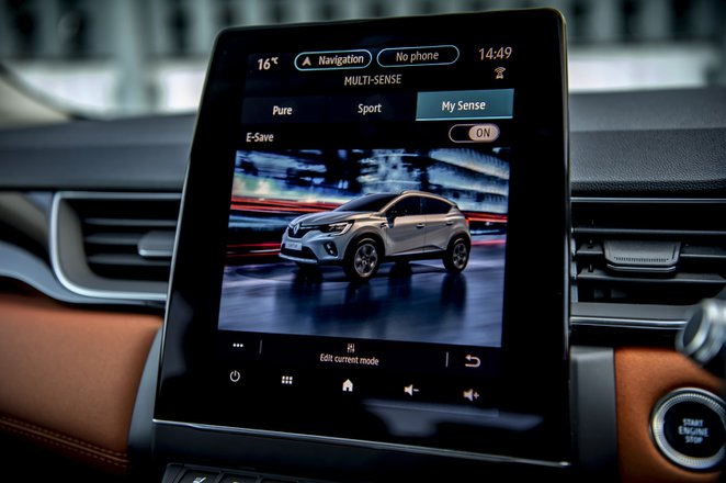 Renault Captur 2021 interior infotainment