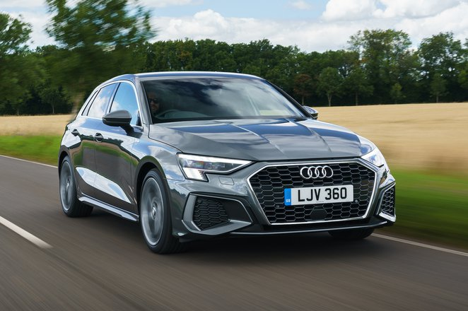 Audi A3 Sportback 2021 front right tracking