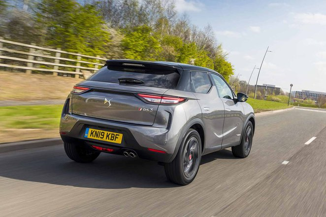 DS 3 Crossback 2019 UK right rear tracking shot