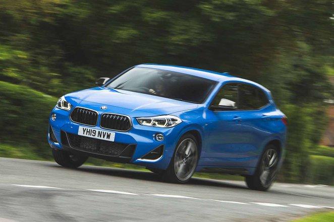 BMW X2 M35i 2019 RHD front left cornering