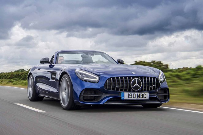 Mercedes-AMG GT Roadster 2019 RHD front tracking