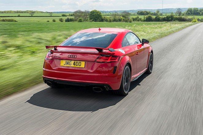 Audi TT RS 2019 RHD rear tracking shot