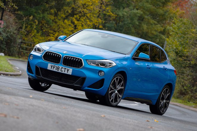 BMW X2 SUV 2018 left front cornering