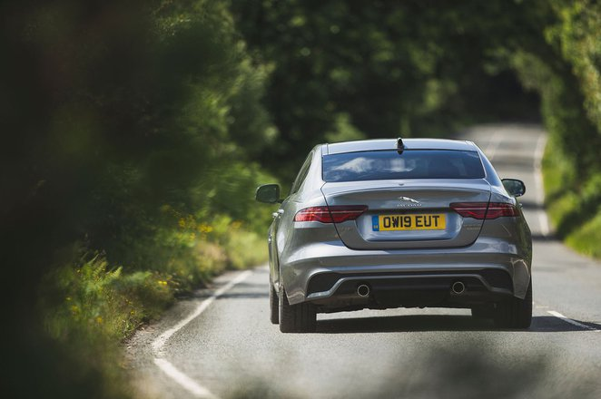 Jaguar XE 2019 rear cornering shot