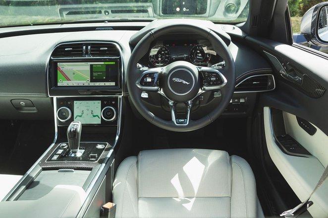 Jaguar XE 2019 RHD dashboard