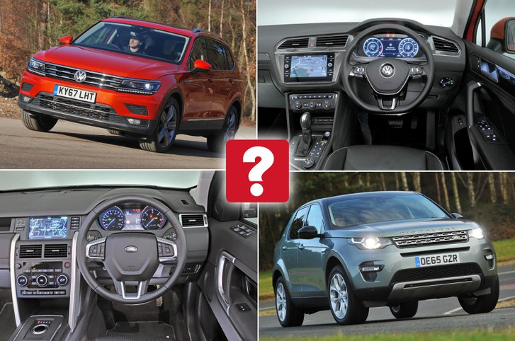 New VW Tiguan Allspace vs used Land Rover Discovery Sport