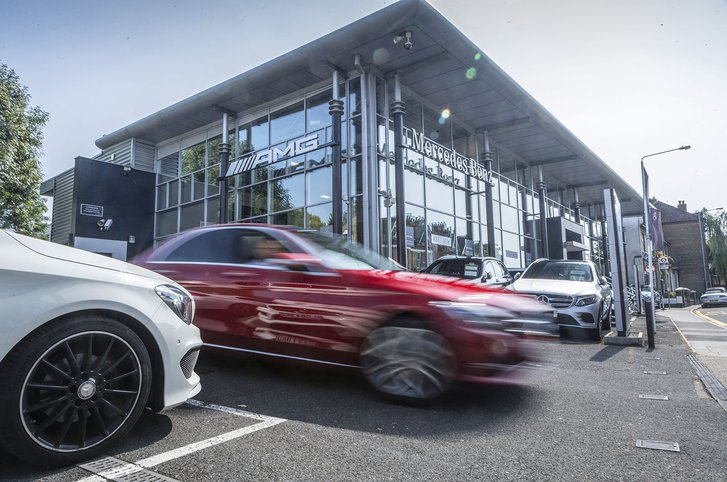 Dealership featuring Mercedes E-Class