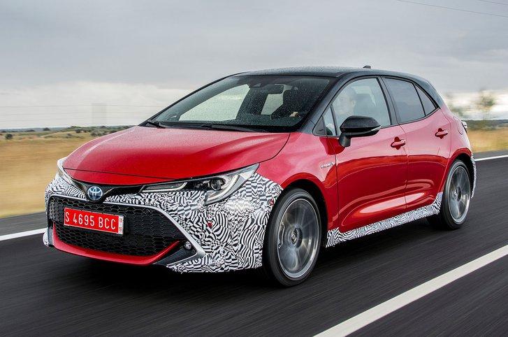 Toyota Corolla front three-quarter driving
