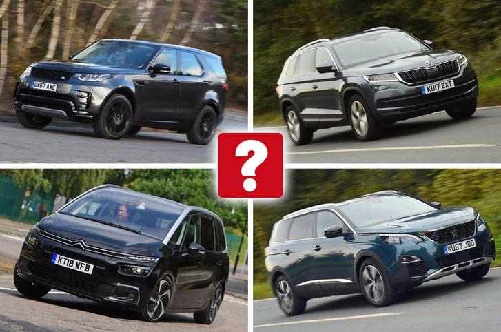 Land Rover Discovery, Skoda Kodiaq, Citroën Grand C4 Spacetourer, Peugeot 5008