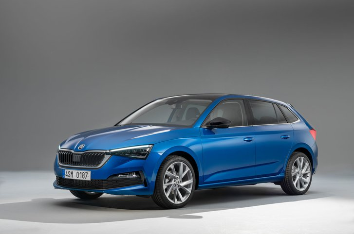 Skoda Scala front three quarter