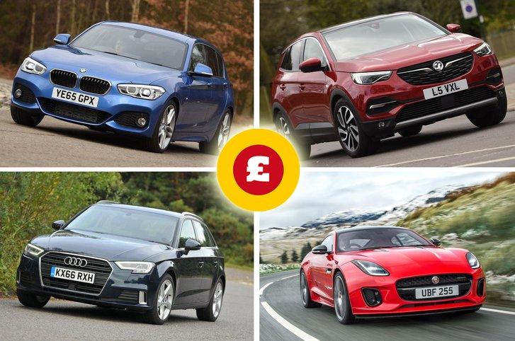 BMW 1 Series, Vauxhall Grandland X, Audi A3, Jaguar F-Type Coupe