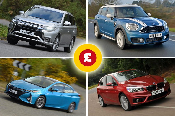 Mitsubishi Outlander PHEV, Mini Countryman, Toyota Prius, BMW 2 Series Active Tourer