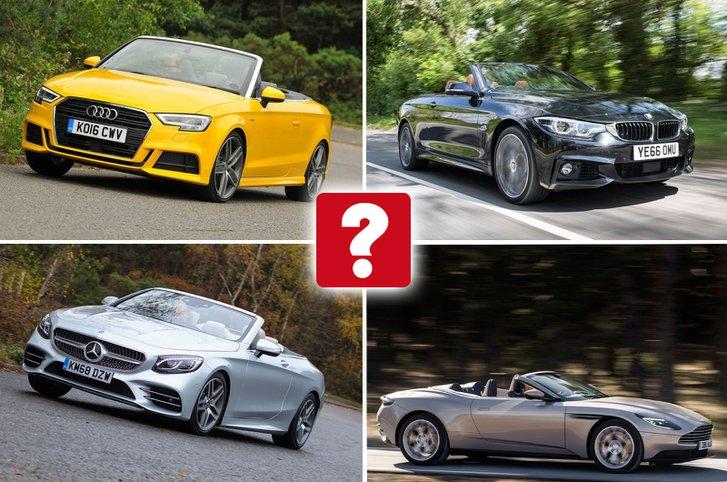 Audi A3 Cabriolet, Mercedes-Benz S-Class Cabriolet, Aston Martin DB11 Volante, BMW 4-Series Convertible