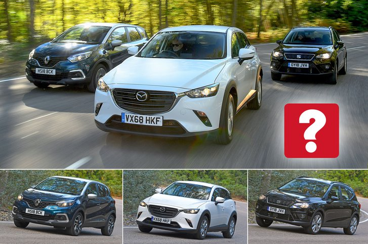 New Mazda CX-3 & Renault Captur vs Seat Arona