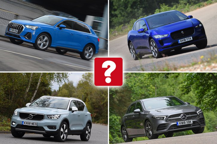 Audi Q3, Jaguar I-Pace, Volvo XC40, Mercedes-Benz A-Class