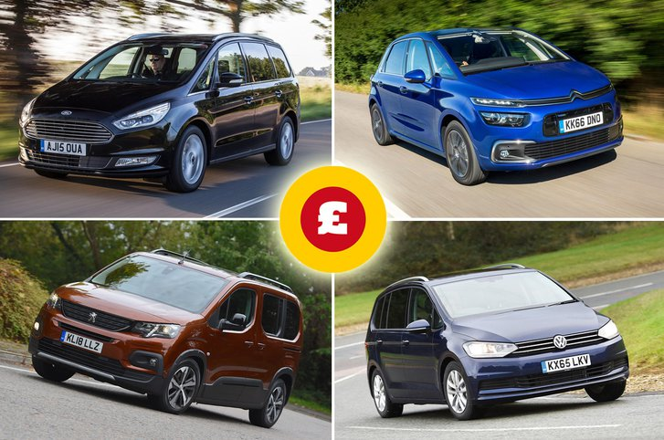 Citroen Grand C4 Spacetourer, Ford Galaxy, Peugeot Rifter, Volkswagen Touran