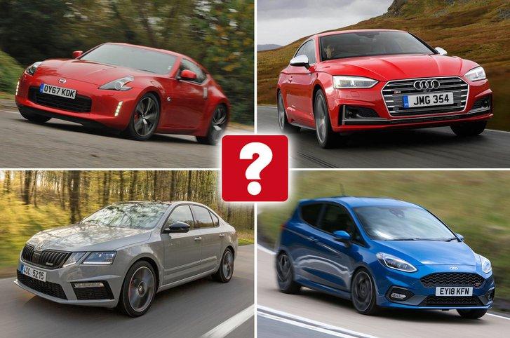 Nissan 370Z, Audi S5 Coupé, Skoda Octavia vRS, Ford Fiesta ST