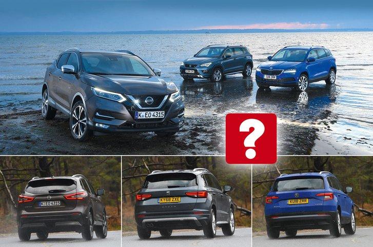 New Nissan Qashqai & Seat Ateca vs Skoda Karoq