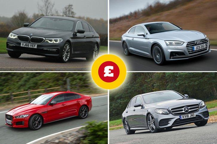 BMW 5 Series, Jaguar XE, Mercedes-Benz E-Class, Audi A5
