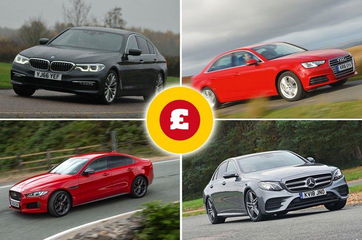 BMW 5 Series, Jaguar XE, Mercedes E-Class, Audi A4