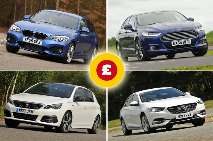 BMW 1 Series, Ford Mondeo, Peugeot 308, Vauxhall Insignia Grand Sport