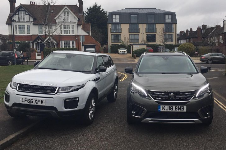 Peugeot 5008 with Range Rover Evoque