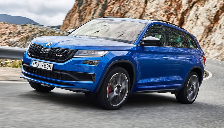skoda kodiaq vrs review 2019 what car. Black Bedroom Furniture Sets. Home Design Ideas
