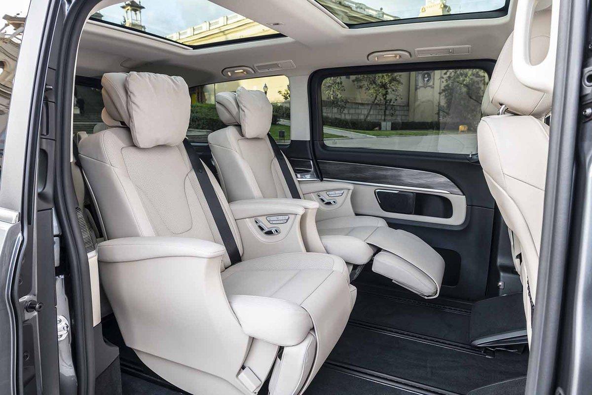 Mercedes-Benz V-Class 2019 LHD rear seats
