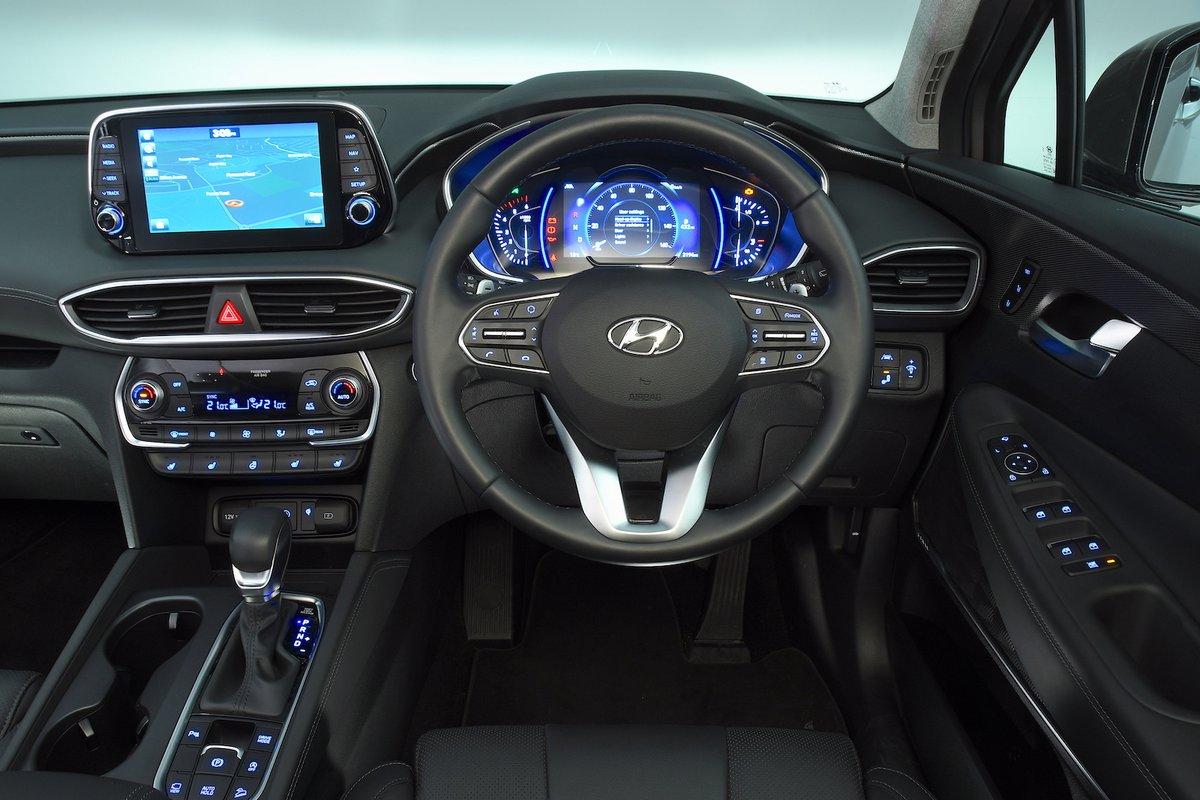Hyundai Santa Fe 2019 RHD dashboard