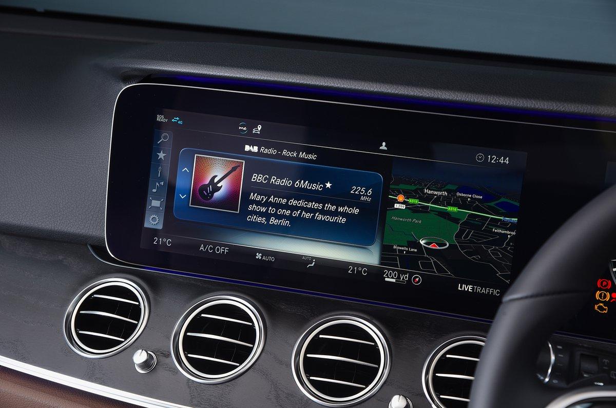 Mercedes E-Class All-Terrain infotainment screen