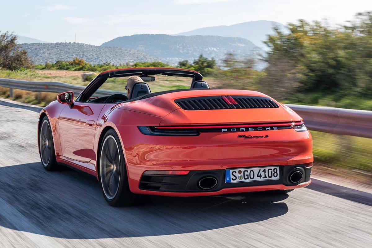 Porsche 911 2019 Cabriolet rear left tracking