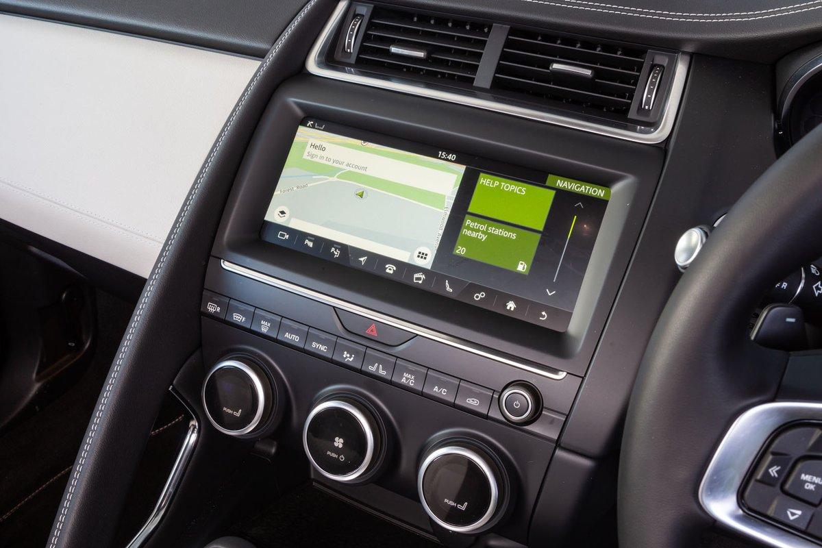 Jaguar E-Pace 2019 RHD infotainment