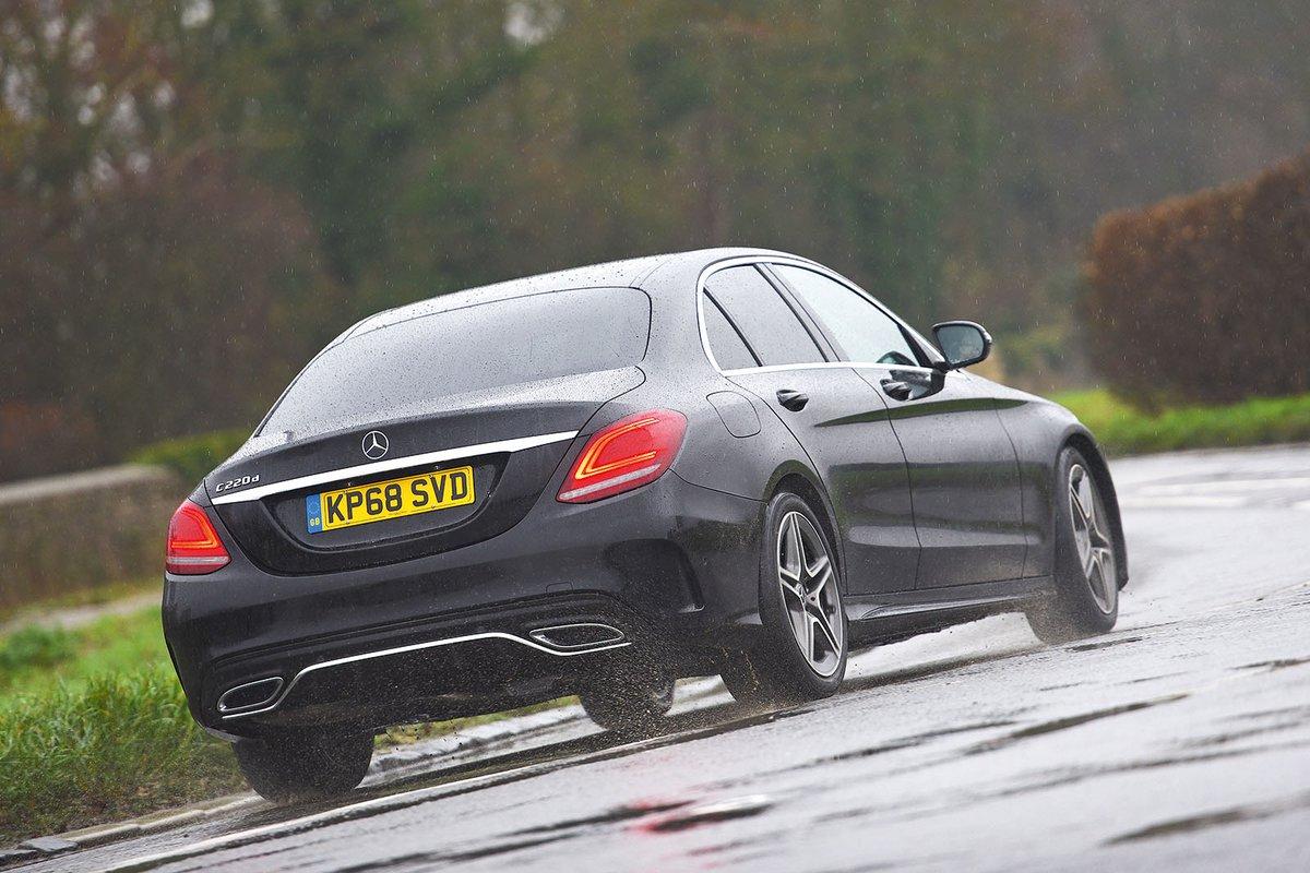 Mercedes C Class 2019 rear cornering shot