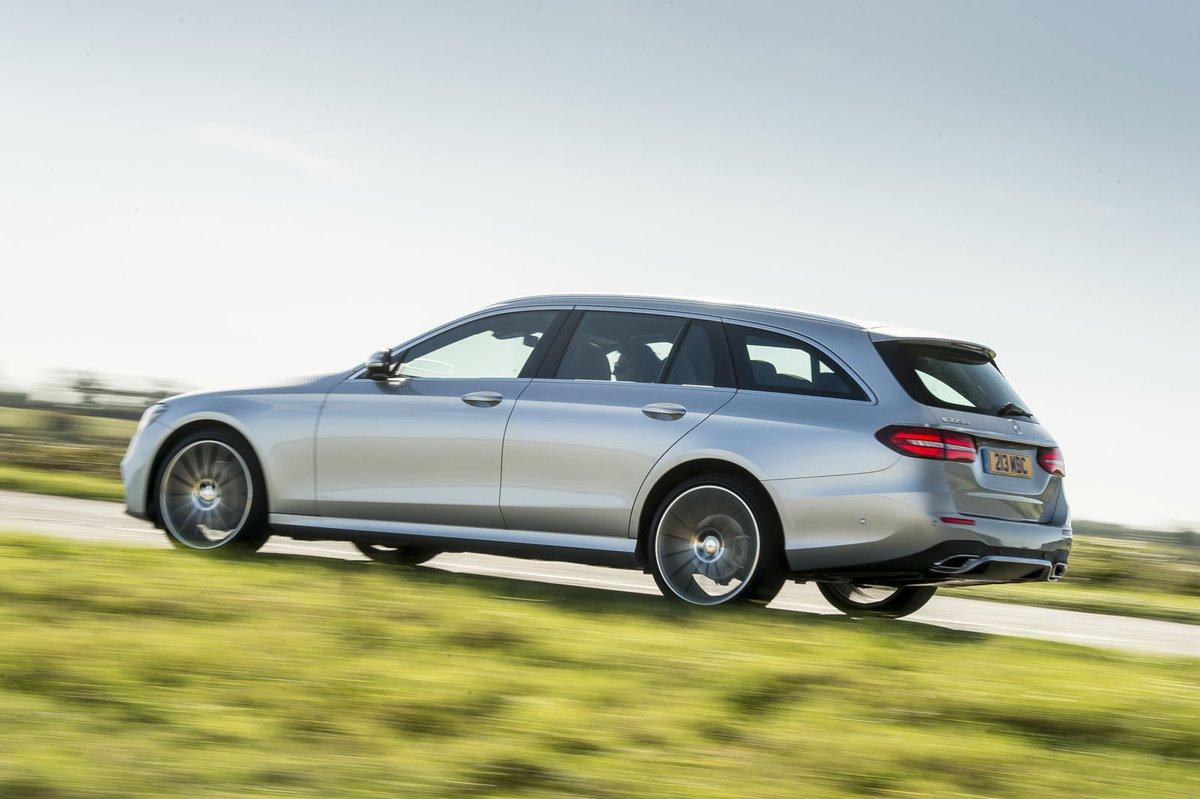 Mercedes-Benz E-Class Estate rear tracking shot