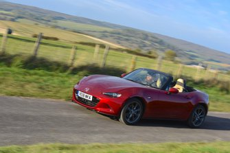 2018 Mazda MX-5 front three-quarter