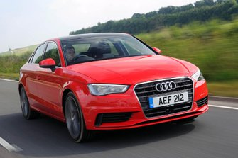 Audi A3 2019 front right tracking shot
