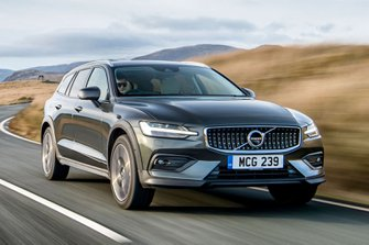 Volvo V60 CC 2019 front tracking shot