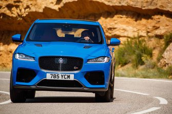 Jaguar F-Pace SVR 2019 launch head on tracking