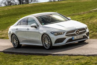 Mercedes CLA 2019 LHD right front tracking shot