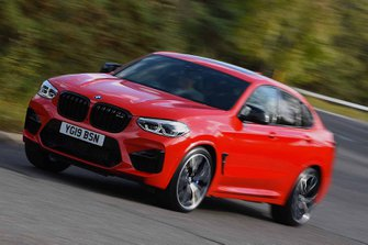 BMW X4 M Competition 2019 RHD front left cornering